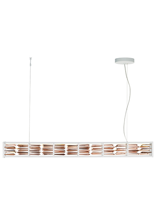 Scarlett sus rose gold in white new led scarlett suspension
