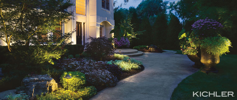 The secret to outdoor lighting turney lighting and electric view larger image kichler led lighting outdoor and landscape tips workwithnaturefo
